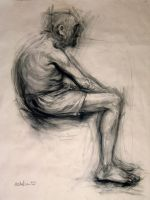 old man_figure drawing by michalivan