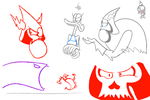 Lord Hater sketches by Schnuron