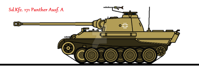 Sd.Kfz. 171 Panther Ausf. A by thesketchydude13