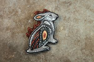 Winged Hare Brooch by hontor