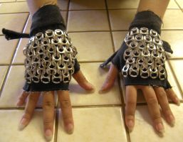 Fingerless Chainmail Gloves by Kenta-Rin
