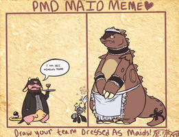 Team Scrappy - Maid meme by CrazyRatty