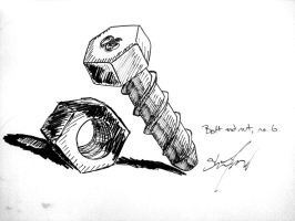 Bolt and Nut, no. 6 by Sheighness