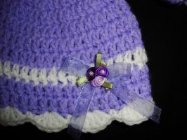 Tasha's set- hat close up by Crochet-by-Clarissa