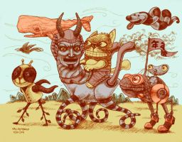 badcat's carousel ride by bawayan