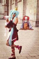 Dancing with a clown xD by HaruhichanxD