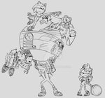 Sonic Boom lineart by TAT3XD