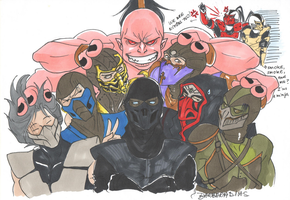 Mortal (Ninjas and Goro) Kombat by Ueki2013