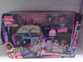 My Hi Hi Puffy AmiYumi PUFFY Bus Playset by MollyKetty