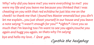 To Shadow from Cynthia. by shadica1