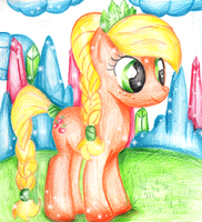 applejack crystal pony by XxsilvixX