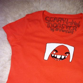scary monster t-shirt by arfarfarf
