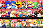 My Smash Roster by rabbidlover01