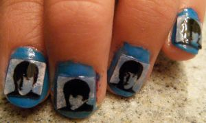 Beatles Nails by originofemilie