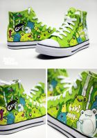 Green Frog Chucks by Bobsmade