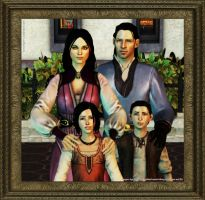 Dragon Age II: Family Portrait (Beth x Nate) by Berserker79