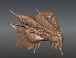 Red Dragon Mudbox Sculpture by RosalineElric