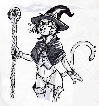 Cat Witch!! by rabbitmaskedman
