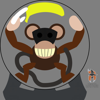 Crystal Ball Monkey by callmesora