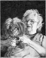Grandmother and Dog by TimBeeler