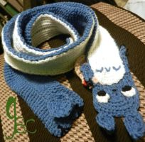 Blue Totoro Inspired Scarf (Scarf Mode) by GrumpyBrosCrafts