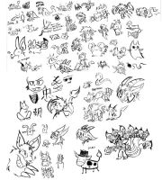 Ginormous Brush Doodle Page by raizy