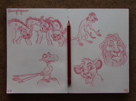Animation Sketches - The Lion King by AngelGanev