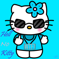 Hell No Kitty by BloodyMisery15