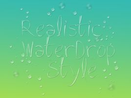 Realistic Water drop PS style by Fredrik-JA