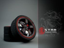 Star Tuned Tires Wallpaper by giacko