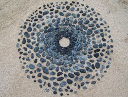 Stone beach circle 2 by Dishtwiner