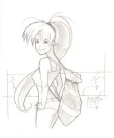 Schoolgirl Chillin' - Sketch by MichaelCrichlow