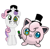 Sweetie Belle and Jigglypuff Go British Day 51 by DrLonePony