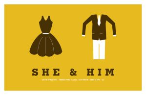 She and Him Fake Gig Poster by goodmorningvoice