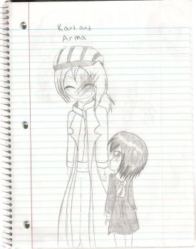 human karl and arma? awwwww :D by yume-soul210
