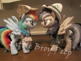 Rainbow Dash and Daring Do (commission) by Little-Broy-Peep