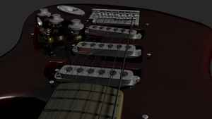 Stratocaster-no pickguard -wip by Antscape
