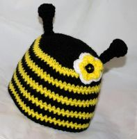 Bumble Bee Beanie by rainbowdreamfactory