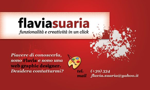Flavia Suaria Business Card by LadyEden