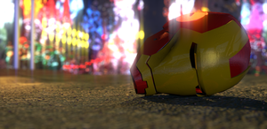 Iron Man helm lost in the City! by TomCadogan