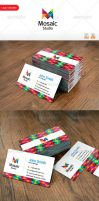 Mosaic Studio Business Card by thearslan
