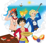 One Piece: Brothers by CartoonOwl
