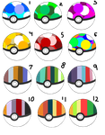 Color Palette Pokeball Adopts! :CLOSED: by PerfectAdopties