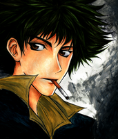 Spike Spiegel by HeartandVoice