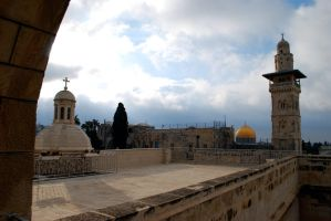 Two faiths, Jerusalem by dpt56