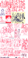 Sketchdump: Studies by e1n