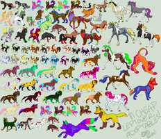 Massive Leftover Adoptable Sheet CHEAP! by TheFoxFeatherz