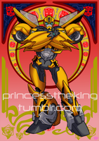 Art Nouveau Bumblebee by GlassShard206