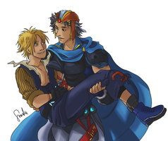 Commission Tidus and Firion by sharadaprincess