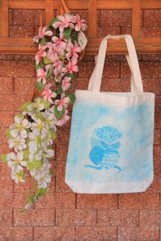 Painted Owl Tote by PisaRose97